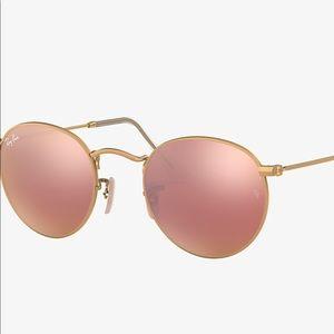 Rayban Sunglasses - Champagne Round